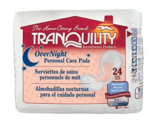 Tranquility overnight personal care pads