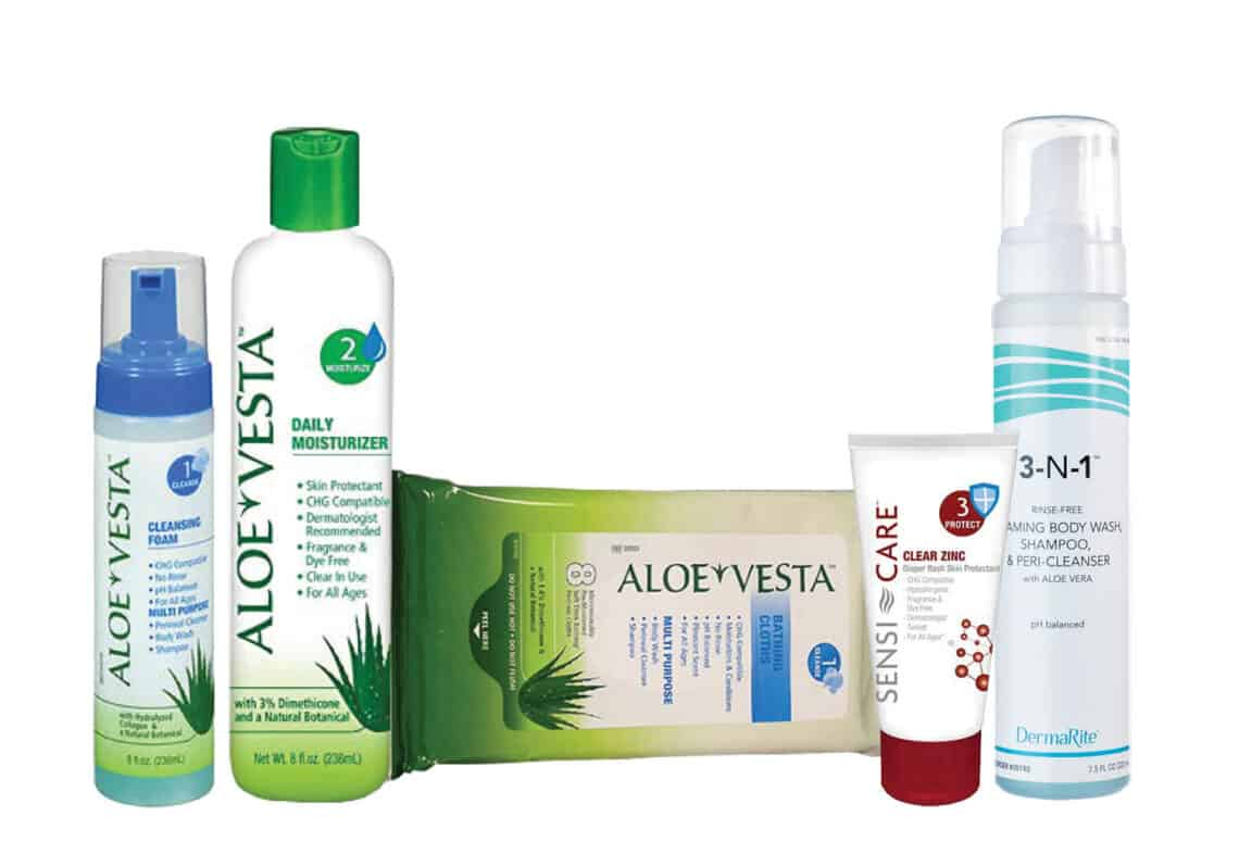 aloe vesta and sensi-care readiness essentials supplies for managing bowel incontinence in men