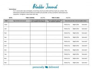 Bladder Journal page 1