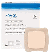 Box of Aquacel Square Foam Dressings