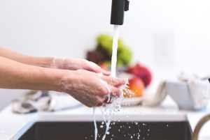 hand-washing hygiene in the kitchen