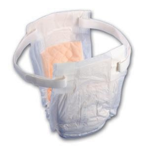 hook and loop style belted undergarment incontinence pads