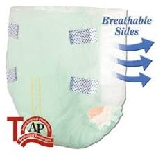 tranquility adult pull-ups featuring breathable sides
