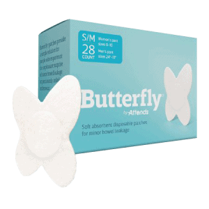 butterfly by attends incontinence pads for fecal incontinence