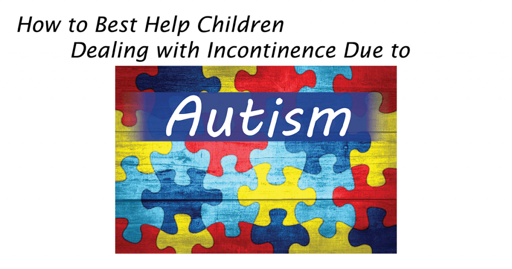multi-colored puzzle pieces representing the challenges of autism as the blog cover for children with autism dealing with incontinence