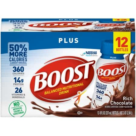 12 pack of Boost Plus nutritional drink