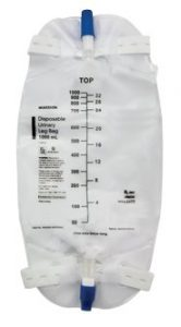 Item 4605 McKesson 1000 mL urinary leg bag with anti-reflux valve also available in 500 mL size
