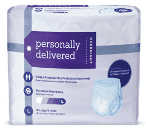 Personally Delivered Overnight Protective Underwear in a bag are an excellent incontinence product for seniors for nighttime protection you can trust