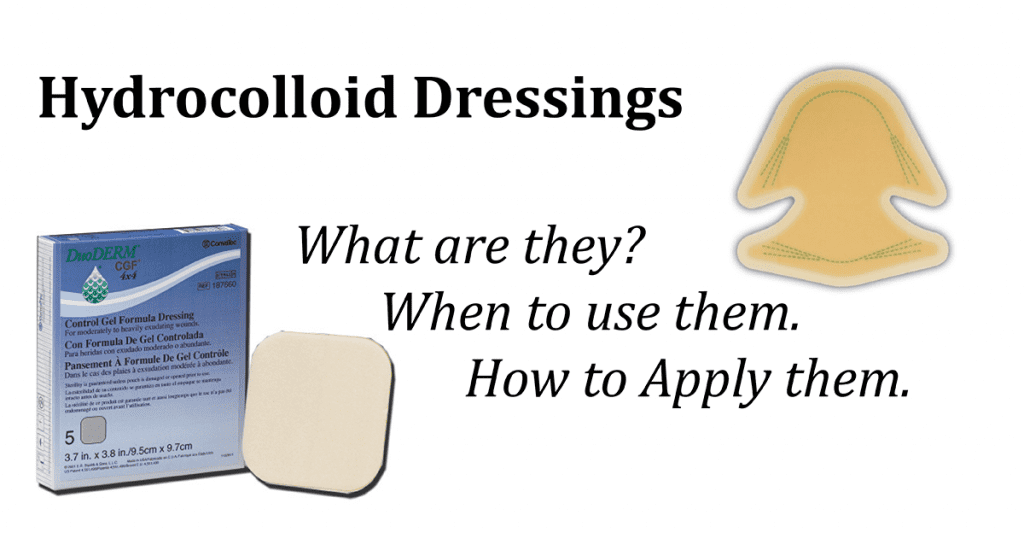 how to apply and use hydrocolloid dressings