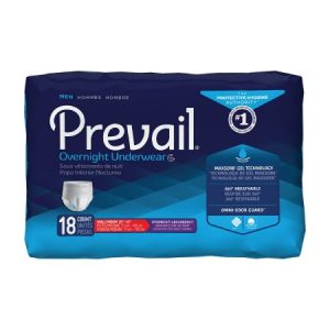 Item #PMX512 Prevail Men's Overnight Disposable Underwear