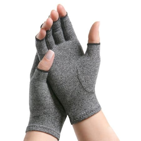 arthritis compression gloves for those with arthritis with an ostomy