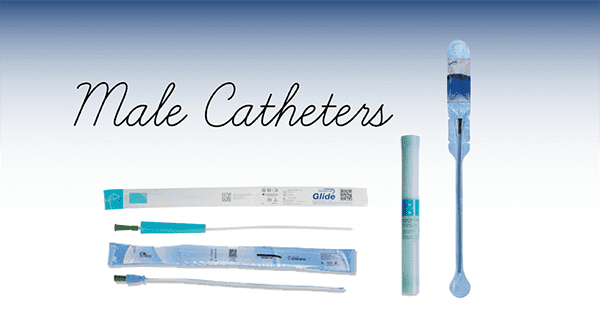 assortment of male catheters