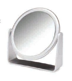 adjustable mirror to aid in changing an ostomy appliance