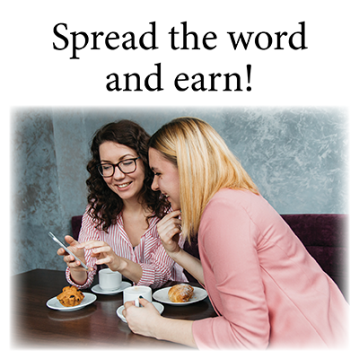 refer a friend program to receive 15 dollars toward your next purchase