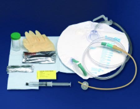Bardia Foley Catheter Closed System with Insertion Supplies Tray, 5 cc  Balloon